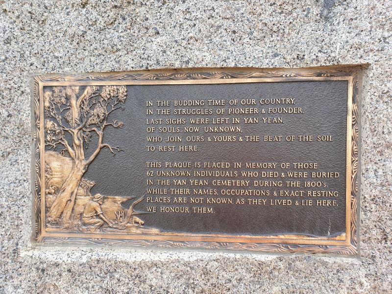 Yan Yean Cemetery Strangers Stone Plaque